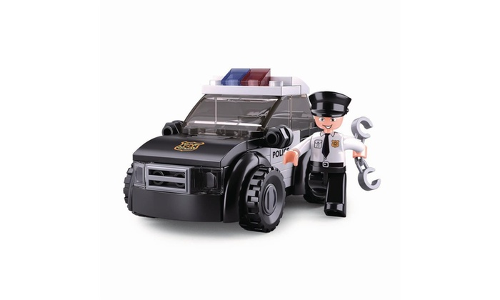 Sluban Kids Police Car Building Blocks 88 Pcs Set Building Toy