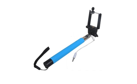z07 5 extendable monopod selfie stick for camera or phone groupon. Black Bedroom Furniture Sets. Home Design Ideas
