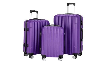 3 Piece Multifunctional Spinner Hardshell Lightweight Luggage Set with TSA Lock Was: $139.99 Now: $76.99.
