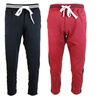 ZLCO Men's Stripe Athletic Track Pants Sport Running Pants Black Red