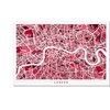 Michael Tompsett London England Street Map 4 Canvas Print