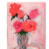 Shelia Golden Roses Canvas Print