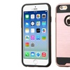 Insten Dual Layer Coated Silicone Case For iPhone 6 6s Rose Gold BLK