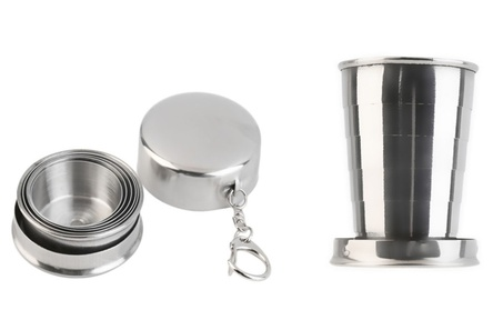 Stainless Steel Folding Cup Outdoor Camping Traveling Hiking Mug 20f3ce4e-d082-4518-8e36-1566f9dd9cd1