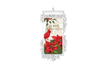 Downton Abbey WH68W-0829 Christmas Greetings Collage Wall Hanging 77c338cd-02e2-48f7-a832-20af8f8bfdc7