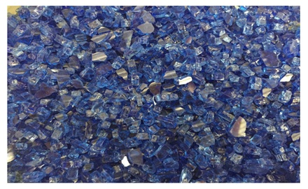 Deep Sea Cobalt Blue Fire Glass 1/4
