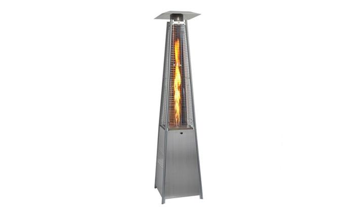 Avenue A: Outdoor Pyramid Propane Glass Tube Dancing Flames Patio Heater