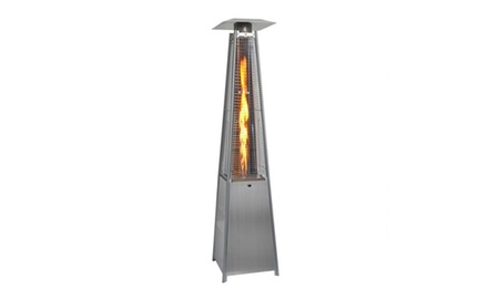 Outdoor Pyramid Propane Glass Tube Dancing Flames Patio Heater