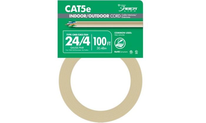 Cat5e 24-4 I-o 100Ft