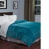 Lavish Home Floral Etched Fleece Blanket with Sherpa