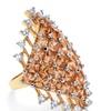 8.58 TCW Princess-Cut Champagne CZ Ring