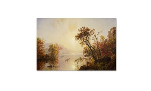 Groupon Goods: Jasper Cropsey 'Rowing Out of a Cove 1878' Canvas Art