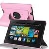 Insten Pink Swivel 360 Leather Case For Kindle Fire HD 7 2nd Gen 2013