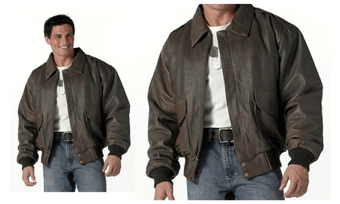 Rothco Classic A-2 Leather Flight Jacket Brown | Groupon