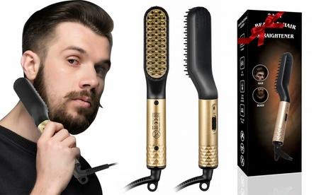 Beard Straightener for Men Hair Straightener Hair Styler Electric Hot Comb Gift