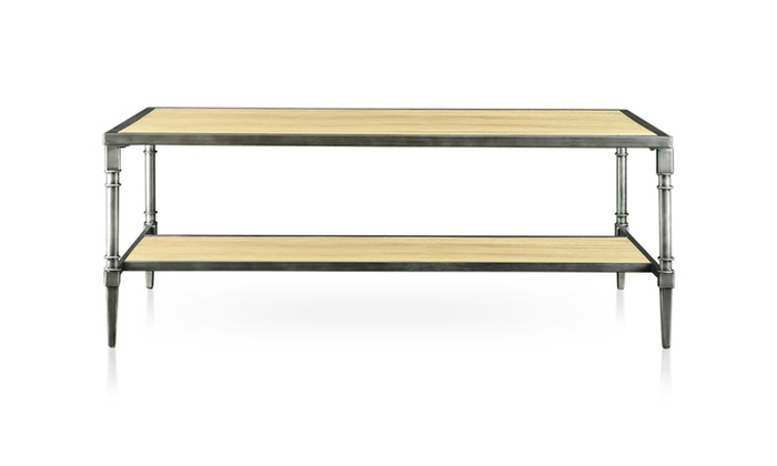 Perry Industrial Design Natural Finish Coffee Table Groupon
