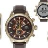 Ulysse Girard Masson Chronograph Mens Watch Brown/Gold