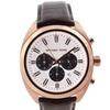 Michael Kors Men's 'Dean' Leather Strap Rose Gold-tone Watch