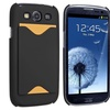 Insten Clip-on Rubber Hard Case w/Card Holder For Samsung Galaxy S3