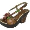 Women's Wedge Strappy Sandals Espadrille Handmade