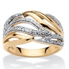 Diamond Accent Cocktail Ring 18k Gold over Silver