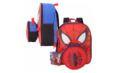 New Marvel Ultimate Spiderman 12 Inches Backpack With Lunch Bag edce3ec8-b4fc-46a0-bc7a-407f2914c9a4