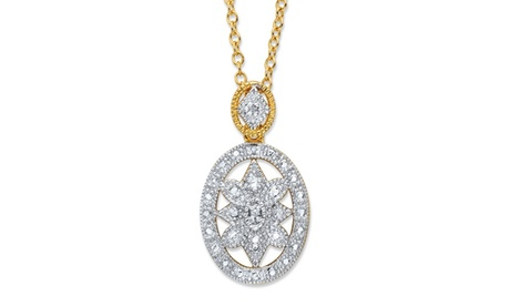 Diamond Accent 14k Gold-Plated Pendant Necklace 01fc49a7-a15a-4656-b943-8d123c4a4693