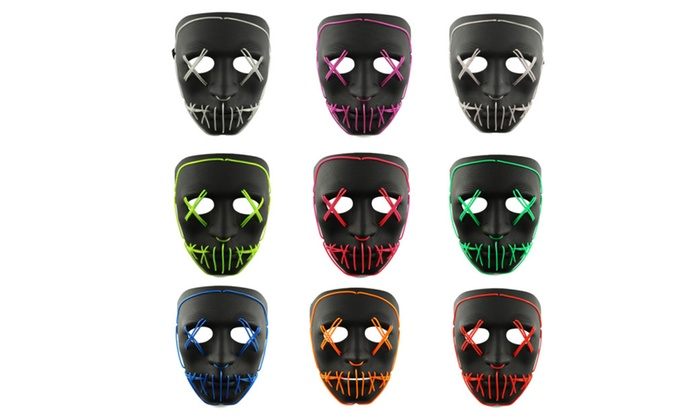 The Purge Movie EL Wire DJ Party Festival Halloween Costume LED ...