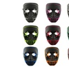 The Purge Movie EL Wire DJ Party Festival Halloween Costume LED Masks