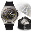 Force One Venture Chronograph Mens Watch Black/Silver/Black/Yellow