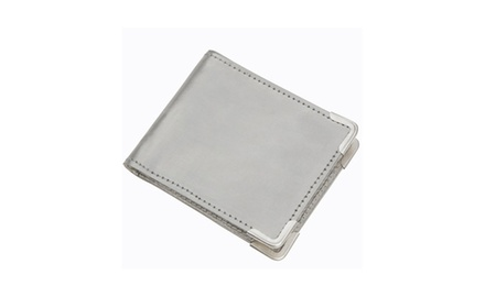 Unisex Stainless Steel Metallic RFID Card Protector Wallet