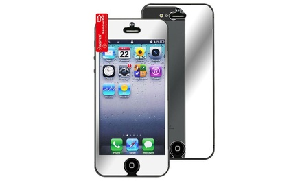 flip image iphone insten 2x mirror screen protector for apple iphone 5 5s 10619