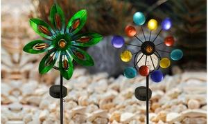 Solar Spinning Pinwheel Garden Light