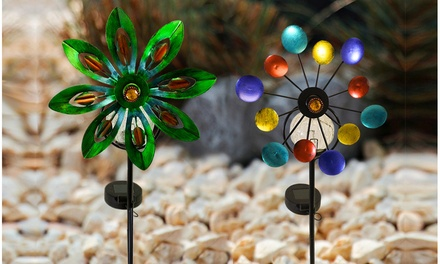Solar Spinning Pinwheel Garden Light