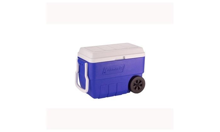Coleman 56 Quart Wheeled Blue Personal Cooler 5856A718G