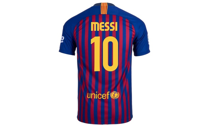 classic fit efc21 6d8ff Messi #10 FC Barcelona Home Youth Soccer Jersey 2018-19
