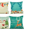 "Christmas Decorative Cushion Cover Pillowcase Square 18"" x18"" Set of 4"