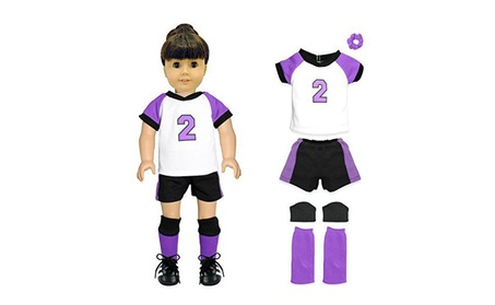 Doll Clothes Soccer Uniform Fits American Girl & Other 18 Inch Dolls f162265b-cc24-4fa0-881c-41e2ecdaad10