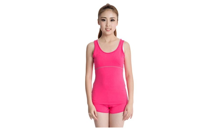 Women's Dry Fit Compression Sleeveless Long Tank Top