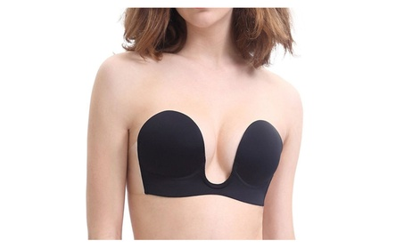 Women Push Up U Shape Sticky Strapless Silicone Self Adhesive Bra 57891ffb-c566-4e05-9e59-f8abd916acb6