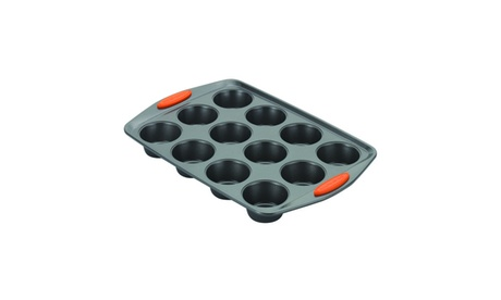 Rachael Ray Yum-o! Bakeware 12-Cup Oven Lovin' Muffin and Cupcake Pan 56ec6639-60f0-4b0f-9782-9311381f85f2