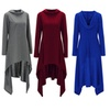 Women Fashion Long Sleeve Asymmetric Hoodie Sweatshirts Long Pullover