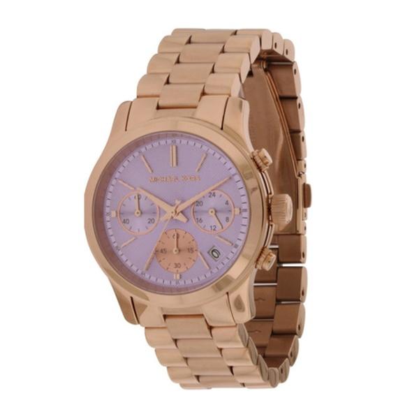 07ede3e3f0fc Michael Kors Runway Rose Gold-Tone Ladies Watch MK6163