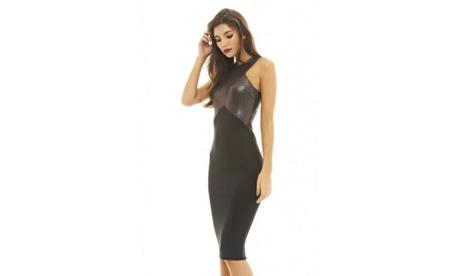 AX Paris Metallic 2 In 1 Pewter Dress 78e55d92-c8e0-45cf-8f0d-01955546927f