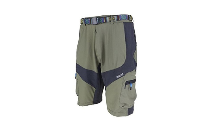 Mountain Bike MTB Cycling 3D COOLMAX Padded Loose Fit Shorts - green without pad / large