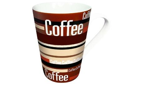 Set of 4 Mugs Coffee Stripes 4e4ea1a8-a29e-4346-a31f-4a03e9fa0036