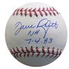 Dave Righetti Autographed MLB Ball Inscribed NH 7-4-83 (MAB – DRIGMLB2