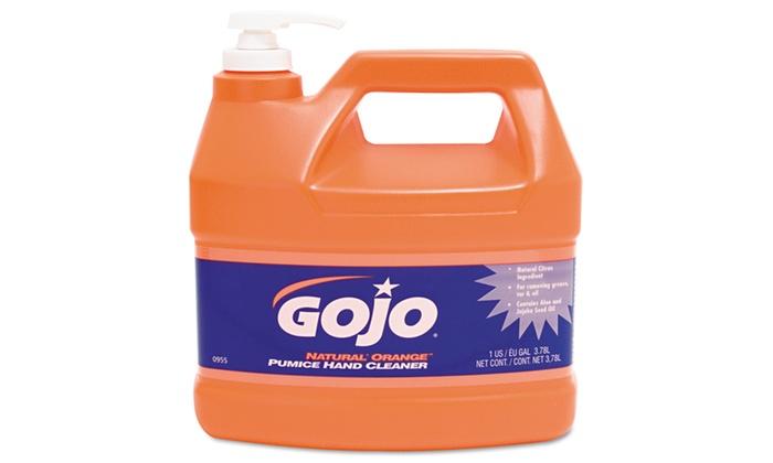 GOJO Natural Orange Pumice Hand Cleaner, Citrus, 1gal, 4Pk