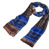 Zodaca Blue/Brown Pashmina Wrap Shawl Linen Scarf Long Voile Stole