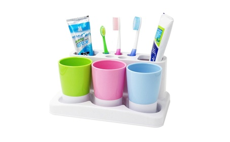 Tonze Plastic Bathroom Toothbrush Tooth Paste Stand Holder Storage 831980b3-a8ba-457d-8273-85ccb63e0e47